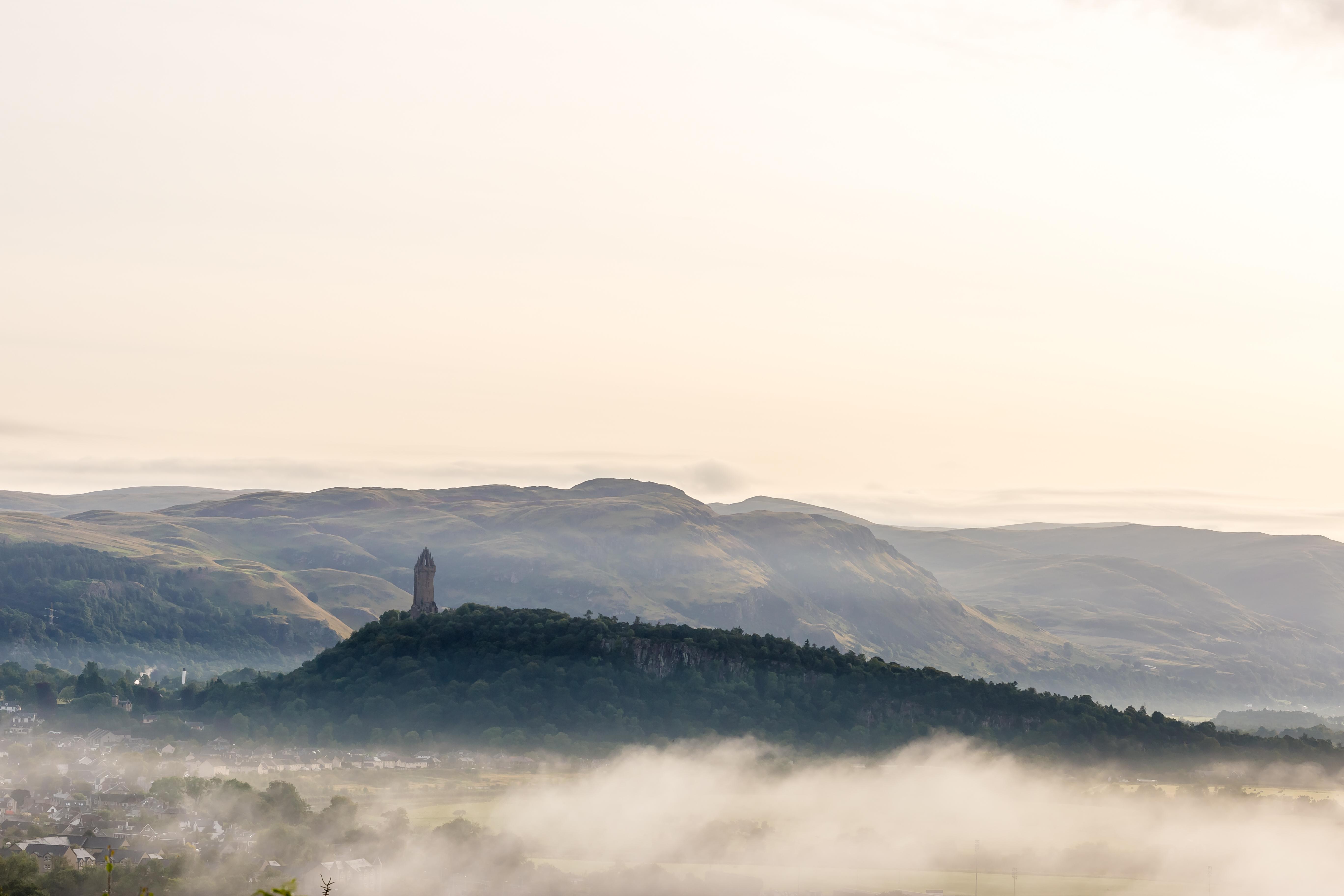 Monumento de William Wallace en Stirling, heroe nacional de Escocia conocido en todo el mundo gracias a la película Braveheart.